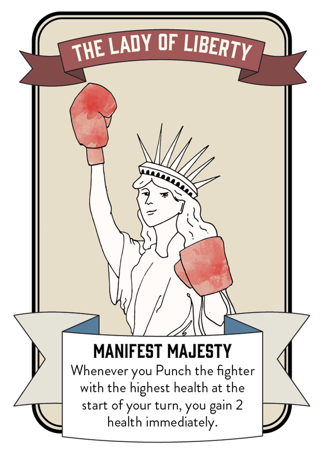 The Lady of Liberty Character Card