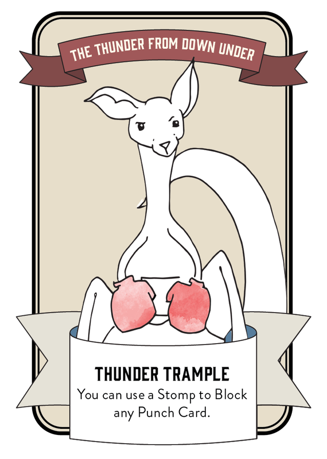 Character card for Archie the Kangaroo